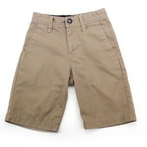 Volcom Boys Chino Khaki Shorts Size 22 / 8